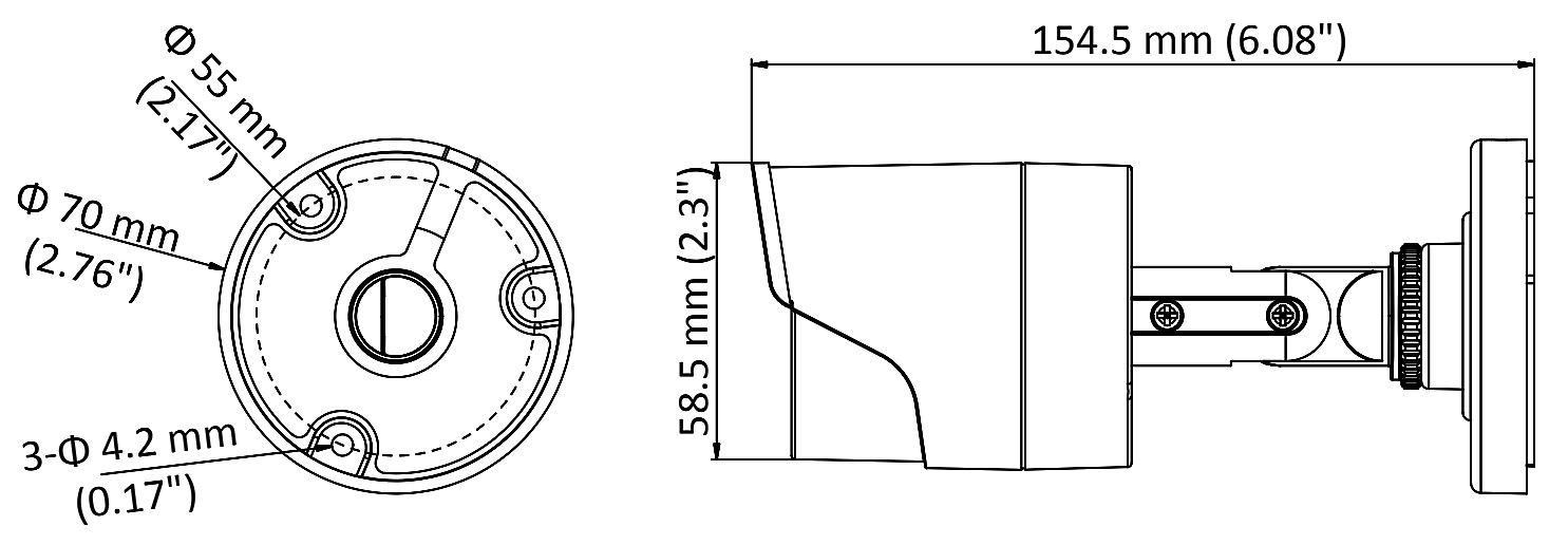 دوربین مداربسته هایک ویژن 2 مگاپیکسل توربو اچ دی DS-2CE16D0T-IR